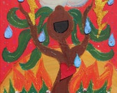 Singing Tree Vertical Greeting Card
