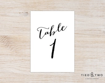 Calligraphy Table Numbers | Wedding Table Number, Script Table Number, 5x7 Table Number, Calligraphy Wedding Table Number