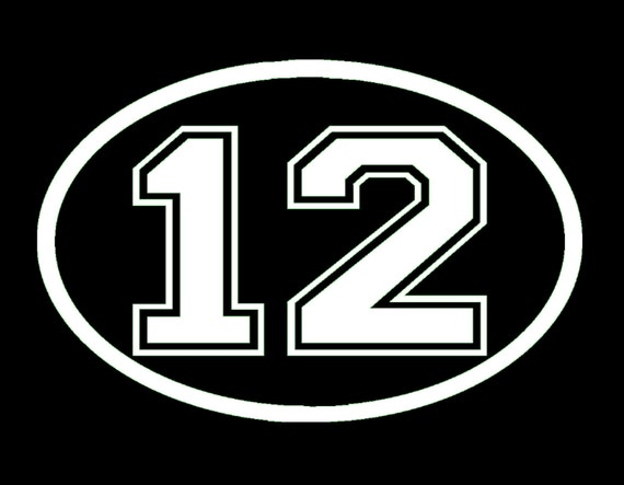 Seahawks 12 12th man oval vinyl window decal pick your size for 12 round window
