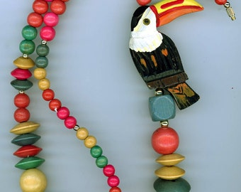 Tucan Wooden Necklace