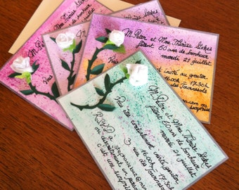 Handcrafted invitations