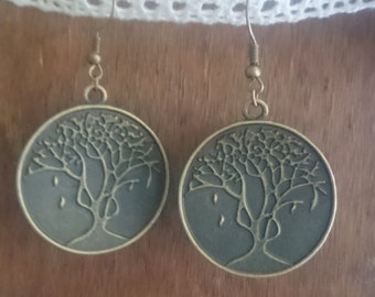 rustic tree earrings~retro forest earrings