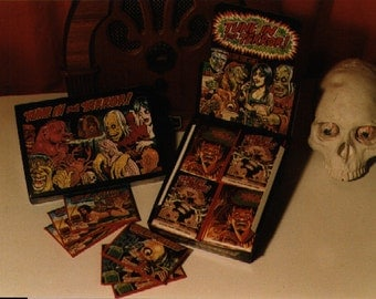 Tune in for Terror, Old time radio horror monster trading cards by Monsterwax
