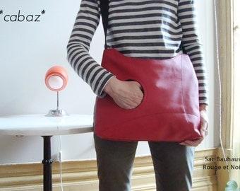 HandBag/Messenger/Shoulder/ Bag Bauhaus RED/BLACK