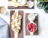 CUSTOM LISTING: Todd Smith Walnut Cheeseboard Gift Set, TWO Sets of 3 Cheeseboards