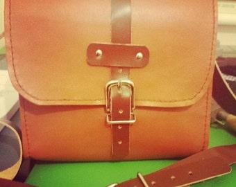 Handmade Tan Leather Bag