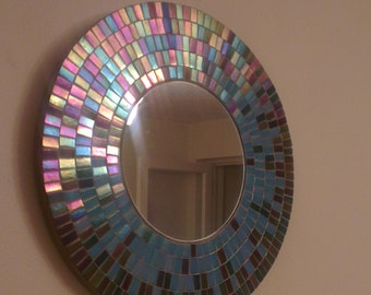 Mosaic Mirror Opalescent glass mosaic