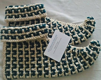 Adult Hand Knitted Elf Slippers