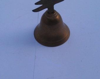 Vintage Brass Christmas Tree Handle Bell