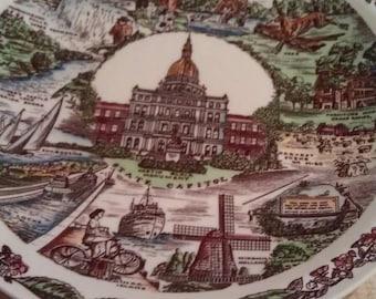 Michigan State Capital Plate
