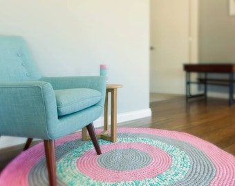 Habitue Design Custom Multi Colour Crochet Floor Rug
