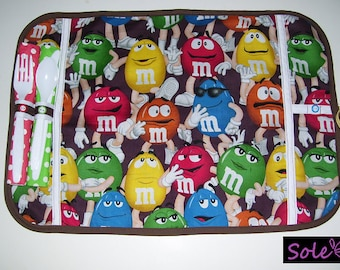 COMPLETE TABLE MATS -  m & m  tablemats - m m placemats - m m lunch mats - m m snack mats - candy tablemats - candy place mats