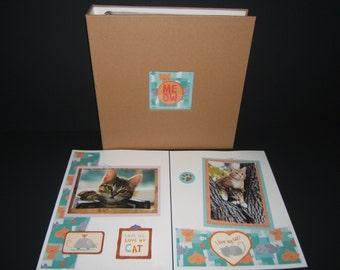 Pet Scrapbook Album - Cat Scrapbook Album - Pet Memory Albums - Cat Photo Album - Crazy Cat Lady - Cat gift idea - Cat Lover Gift - Albums