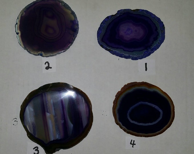 Purple Agate Slab- 3 inch from Brazil- PICK YOURS! AAA Grade Agate SlabsHealing Crystals \ Reiki \ Healing Stone \ Healing Stones \ Chakra