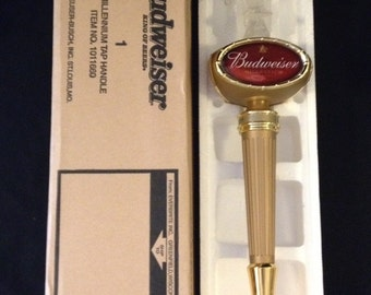 FREE SHIPPING-Fabulous-Rare-Budweiser-Millennium-1999-Beer-Tap-Handle-New-Still In Original Box
