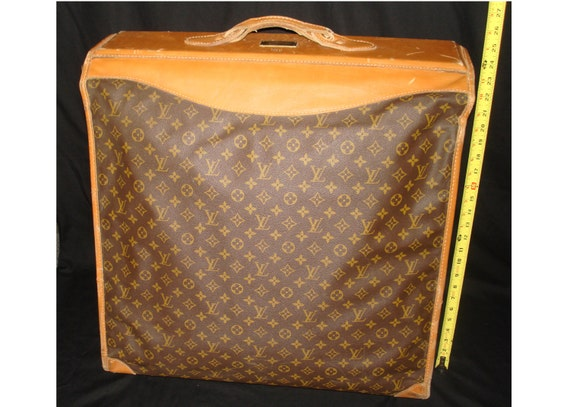 FREE SHIPPING-Authentic-Vintage-Louis VUITTON-Extra Large-Garment-Luggage-Suitcase-Bag