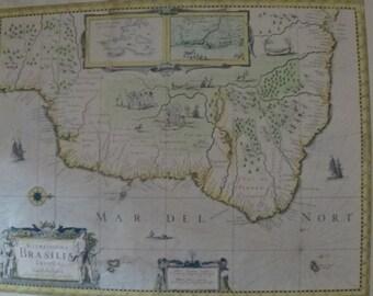 Carte du Brésil par Hondinius