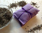 Pure French Lavender Sachets, Dryer Sachets, Set of 3, Purple Swiss Dot, Green Living, Natural Clothes Dryer Alternative