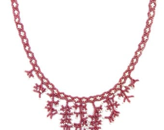 """Necklace """"snowflakes Pattern"""""""
