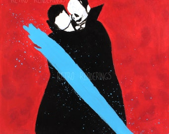 Queens of the Stone Age Like Clockwork painting, art print, poster