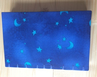 Small Blue Stars Book   Coptic Stitch   Sketchbook   Journal   Notebook