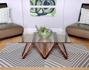 M-town reclaimed wood coffee table with storage