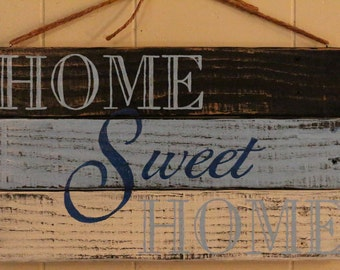 Home sweet home, pallet sign, recycled wood, wall decor, gift idea, distressed, cottage chic, motivational, inspirational