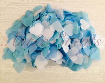 Love Heart Confetti (Blue) - Party, Wedding, Favors