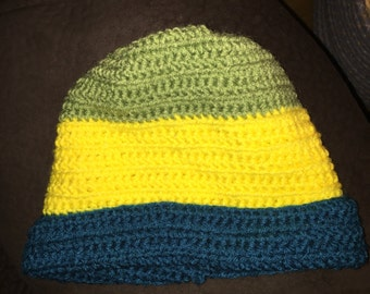 Adult/child crocheted beanie hat