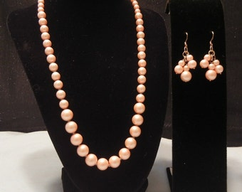 Coral Cluster Pearl Handmade Necklace Jewelry
