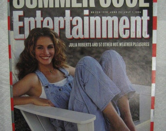 "ENTERTAINMENT WEEKLY June 24 - July 1 , 1994 - Julia Roberts on cover ""Summer Cool"" double issue"