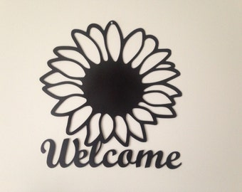 Sunflower Welcome Sign - Front Door or Wall