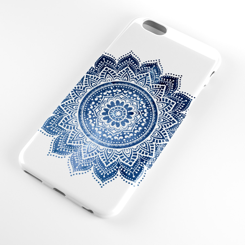 Electronics Cases Custom Hardcase Midnight Dots Iphone 4 5 5c 6 Plus 7 Case Blue Mandala Cell Phone Buddhism Spiritual Apple Samsung Galaxy
