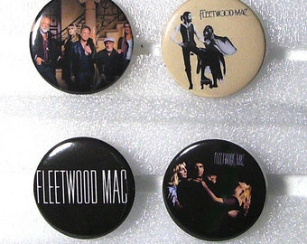 FLEETWOOD MAC buttons/pins!! - set of 5