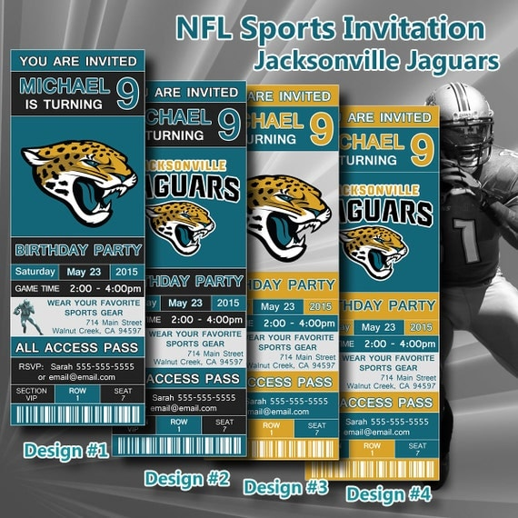 jacksonville jaguars birthday invitation football ticket invitation. Cars Review. Best American Auto & Cars Review
