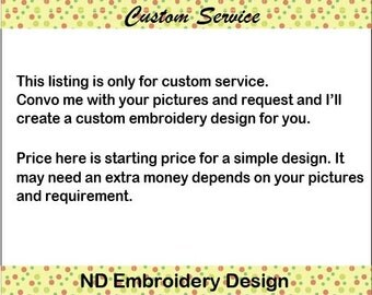 Custom embroidery applique design, machine embroidery designs, 3 sizes, custom-01