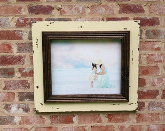Handmade, distressed 16 x 20 inch picture frame