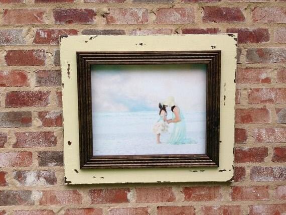 handmade distressed 16 x 20 inch picture frame. Black Bedroom Furniture Sets. Home Design Ideas