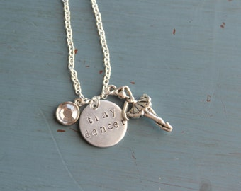 Tiny Dancer Hand Stamped Necklace