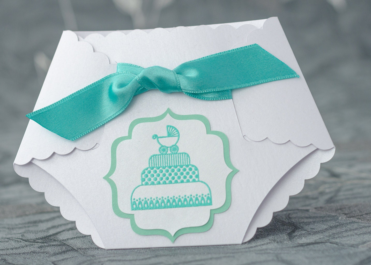 turquoise baby shower diaper invitation diaper invitation