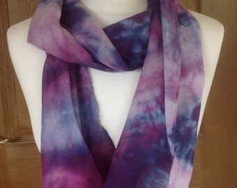 Ice-dyed Organic Cotton Voile Scarf