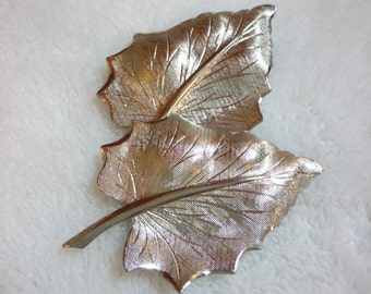 Silver plated Leaf Brooch