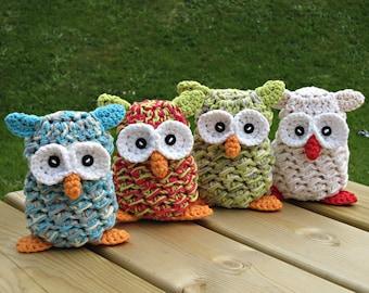 MADE to ORDER, Handmade Owl, Crochet Owl, Home Decor Owl, Crochet Stuffed Animal, Amigurumi, Quantity Discount