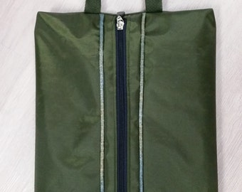 Green nylon bag