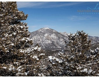 Snowy Mountain Photograph in Rocky Mountain National Park