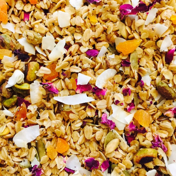 Apricot Rose and Thyme Granola by KithandThyme on Etsy
