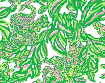 Lilly Pulitzer Preppy Fabric Seeking Pink Elephants