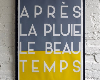 After the Rain, the Sun. French Screen Print