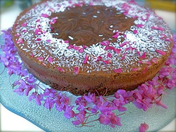 Chocolate Torte w Dark, Sweet Cherries and Orange - MARIPOSA - Organic Raw Vegan GLUTENFREE Soy Free Low Glycemic Sweetened LOCALPICKUP