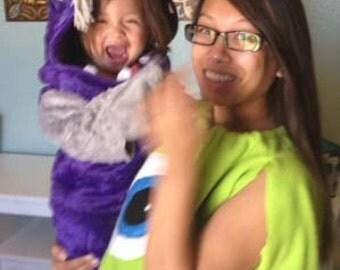 INFANT TODDLER CHILD Custom Made Purple Inspired Baby Boo Monster Halloween Costume